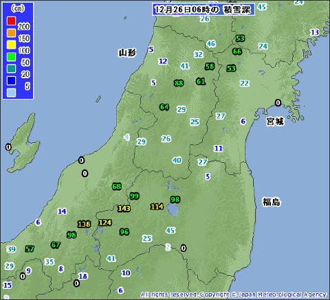 福島県の半分が積雪深観測の空白地帯に