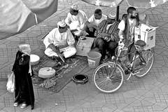 in the shade (Mauriciosl2510) Tags: street people blackandwhite bw pb morocco marrocos