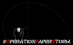 #OPERATIONPAPERSTORM - Spiral Logo - Black