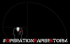 #OPERATIONPAPERSTORM - Spiral Logo - Black