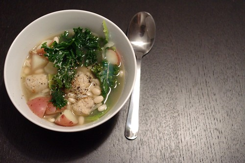 Kale, Potato, Bean and Sausage Soup