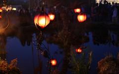 Night light and reflections - Glastonbury Festival 2010 (bobaliciouslondon) Tags: reflection art festival night lights glastonbury lanterns glowing glastonburyfestival 2009 glows perfomance pilton worthyfarm glastonbury2009