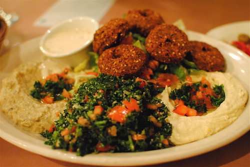 wahibs vegetarian falafel combination