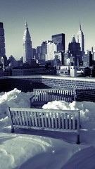 rooftop nyc with snow (dannydalypix) Tags: flickr photograph bankofamerica empirestatebuilding metropolitantower nylifeinsurance mettowernorth