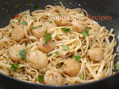 how to cook seafood aglio olio