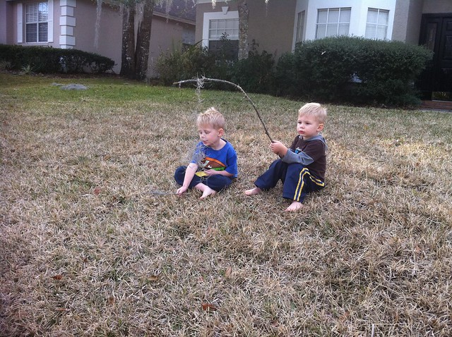 Fishing in the Front Yard