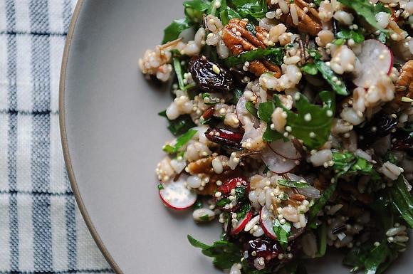 Lime Radish and Pecan Grain Salad