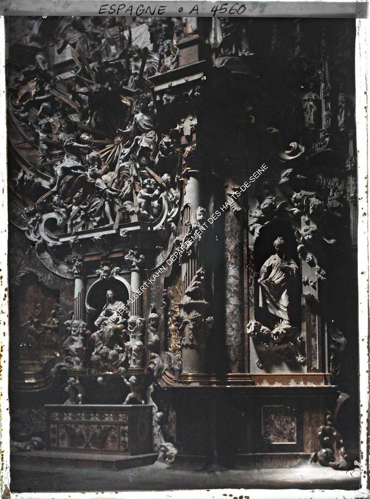 Transparente de la Catedral de Toledo entre el 15 y el 17 de junio de 1914. Autocromo de Auguste Léon. © Musée Albert-Kahn - Département des Hauts-de-Seine