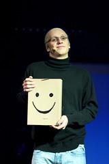 Johannes Fürst som Steve Jobs om Apples nye oppfinnelse, iPoetry