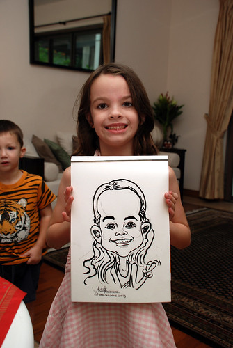 Caricature live sketching for private Christmas Party 2010 - 1