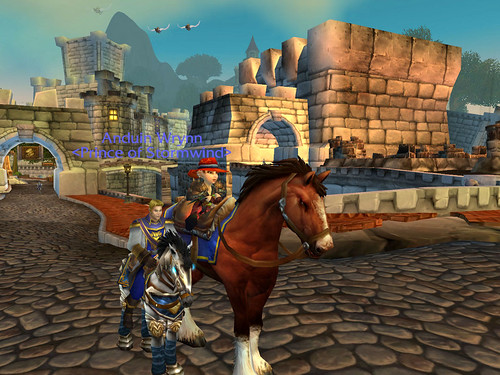 Spennix and the Prince on horseback