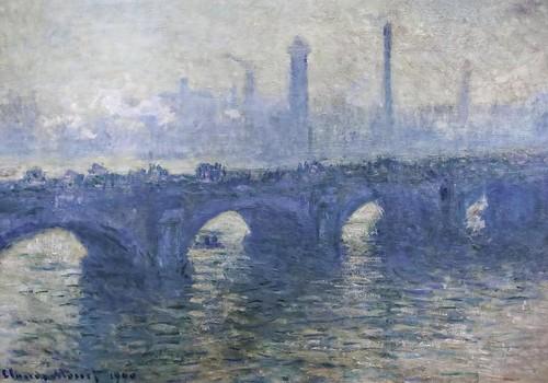 Claude Monet: Waterloo Bridge, Gray Weather