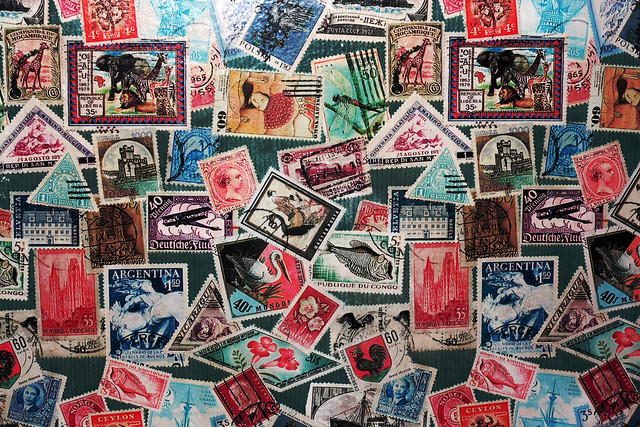 Day 131 - Wall of Stamps