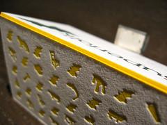 Superfolk Letterpress Cards (Edge Color Closeup)