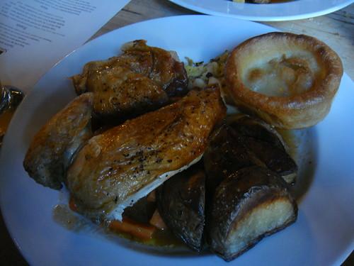 British chicken half a roast chicken with bread sauce