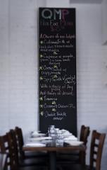 QMP (Kim Yokota) Tags: toronto ontario menu restaurant chalkboard tablesetting qmp queenmargheritapizza