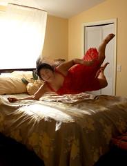 fall on the bed (Michellekiba) Tags: flying bedroom floating levitation falling antigravity freefall jumpingonthebed floatingpeople michellekiba michellekibaphotography