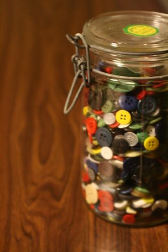 mason jar: buttons