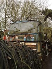 130120111662 (uk_senator) Tags: ford yard truck lorry breakers scrap artic wrecked hertfordshire herts transcontinental uksenator