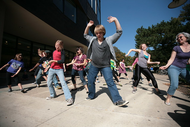 flash mob 1.2 at Oak Park Public Library