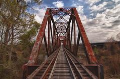 Old Railroad Bridge HDR (akemp42) Tags: railroad rust tracks hdr railroadtracks oldbridge tokina1116 nikond300s