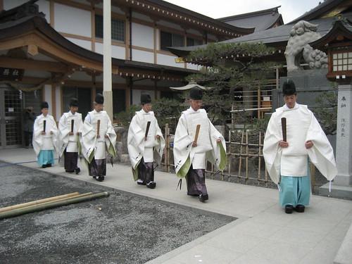 とんど 広島護国神社 2011画像 24