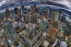 bubble lookout (Stefano 'spirocheta' Sitzia) Tags: sky tower vancouver clouds high nikon cityscape bc view dynamic britishcolumbia sigma lookout fisheye range hdr stefano 10mm d300s sitzia