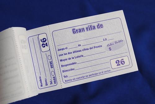 100 boletas rifa papeleriaorbe com by papeleria orbe