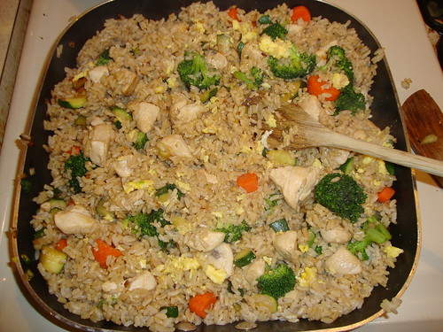 Chicken Fried Rice from Eat This Not That (I made too much rice)