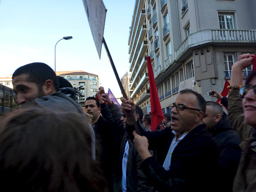 Rassemblement tunisien contre Ben Ali