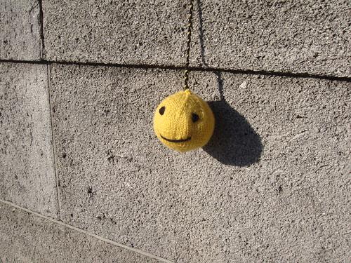 smiley au tricot
