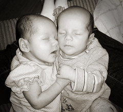 So Sweet (Nancy Vanderbilt Photography) Tags: sleeping love happy twins babies holdinghands twinlove boygirltwins twinbabies