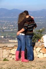 Palamidi Loving (RobW_) Tags: castle loving couple january saturday greece fortress nafplion peloponnese palamidi 2011 argolis jan2011 15jan2011