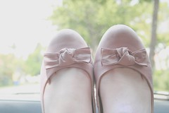 la vie en rose (Honey Pie!) Tags: pink rose shoes sweet bokeh rosa bow romantic ameliepoulain doce lao poulain sapatilha amliepoulain bottero romntica