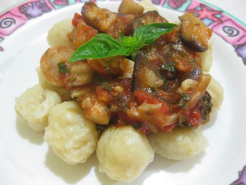#02: Potato Gnocchi with Eggplant & Mushroom Sauce