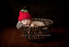 Apple (Sweet Portrayal) Tags: apple hat basket newborn