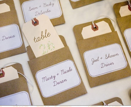 Diy escort cards wedding