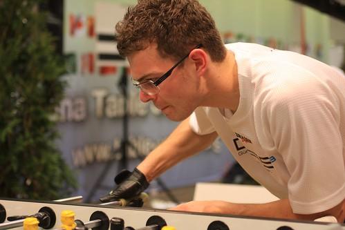 joueur allemand concentré