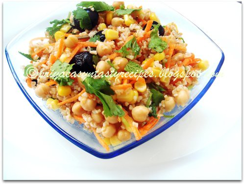 Bulgur & Chickpeas Salad