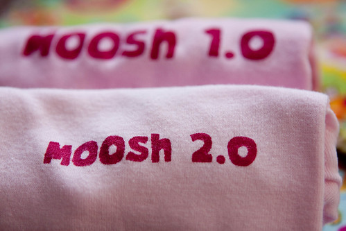 moosh 1.0 t-shirt and moosh 2.0 onesie