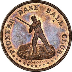 Pioneer Base Ball Club token obverse