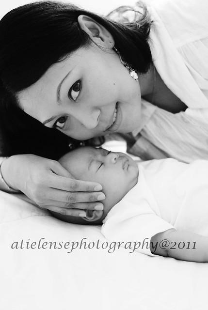 Adam with mama