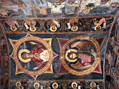 Painted ceiling (CameliaTWU) Tags: church icons ceiling monastery romania orthodox ostrov paintedceiling calimanesti