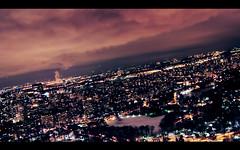 New York view (Lun Liu) Tags: new york city nyc newyorkcity light red sky ny newyork night clouds buildings dark landscape lights nikon view angle low wide tamron ultra 2875 d300s