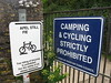 Camping and cycling strictly prohibited. (ttwff) Tags: camping wild england walking coast walks cornwall hiking path walk hike devon backpacking paths hikes padstow swcp southwestcoastpath cornishcoastpath cornwallcoastpath thesouthwestcoastpath