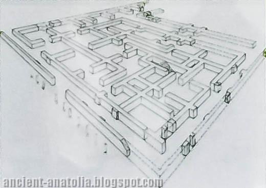 Acemhöyük Palace, isometric plan
