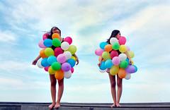 Balloons #1 (poplane) Tags: art kids ball balloons children photography photographie child habit photos couleurs femme ballon balloon picture enfants ballons couleur brune photographies
