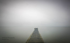 Leap of faith... (muzzpix-nz) Tags: jetty le arty mist lake rain cloudy abstact raining dull misty water lakeside pier mono