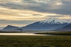 Snfellsjkull Iceland (GarethThomasJones) Tags: mountains volcano sunset sort mountainsofeurope ga gareththomasjones canon canon60d canon70200mmf4 l llens dslr iceland snfellsjkull