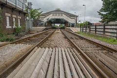 on track (stevefge) Tags: beverley station transport trainstation bridges tracks uk yorkshire perspective vanishingpoint reflectyourworld